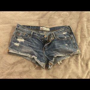 Cut off denim shorts